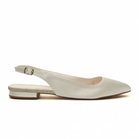 Rainbow Club Alise Dyeable Ivory Satin Slingback Pointed Pumps