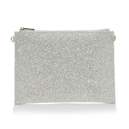 Rainbow Club Arizona Ivory Satin and Snow Glitter Handbag