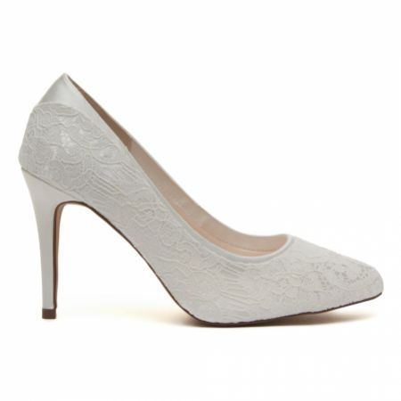 Rainbow Club Billie Dyeable Ivory Lace Court Shoes