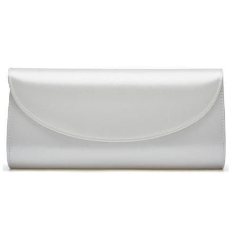 Rainbow Club Celina Dyeable Ivory Satin Wedding Clutch Bag