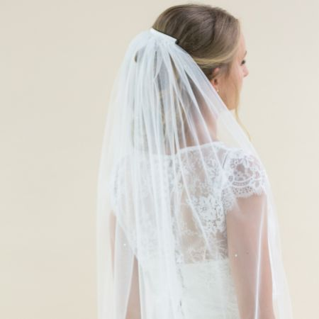 Rainbow Club Cheerfulness Single Tier Veil with Scattered Diamantes