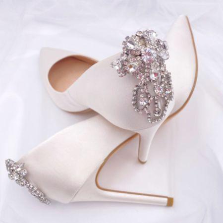 Rainbow Club Electra Art Deco Crystal Brooch Shoe Clips