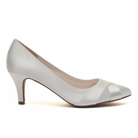 Rainbow Club Lexi Dyeable Ivory Satin Wedding Court Shoes (Wide Fit)
