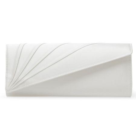 Rainbow Club Tess Dyeable Ivory Satin Wedding Clutch Bag