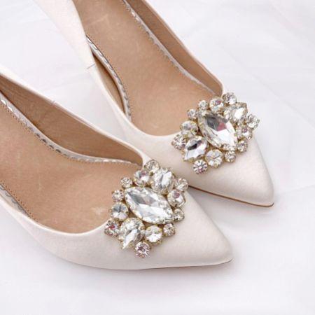 Rainbow Club Xenia Sparkly Brooch Shoe Clips