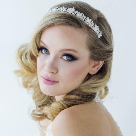 SassB Corinne Luxe Diamante Wedding Tiara