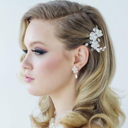 SassB Evelina Floral Treasure Bridal Hair Comb