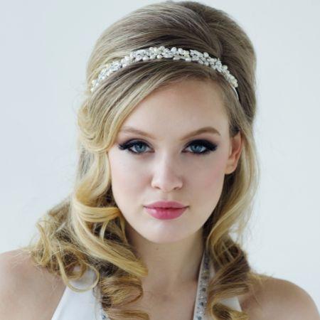 SassB Pearlie Chic Diamante and Pearl Wedding Headband