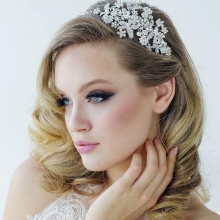 SassB Rosalie Pearl Enchantment Bridal Headpiece