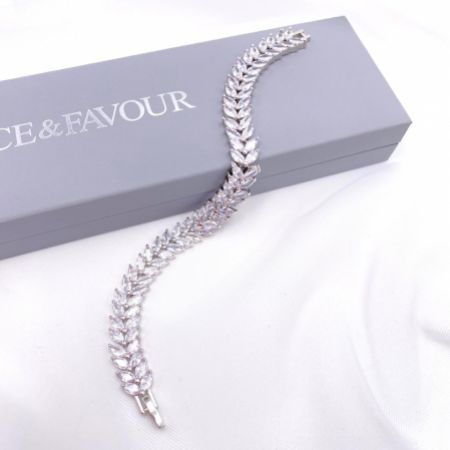 Savoy Sparkly Cubic Zirconia Wedding Bracelet