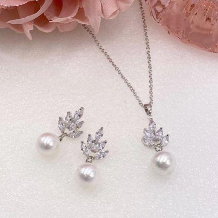 Vienna Vintage Pearl Drop Bridal Jewellery Set