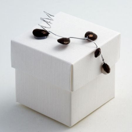 White Silk Favour Box - Pack of 10