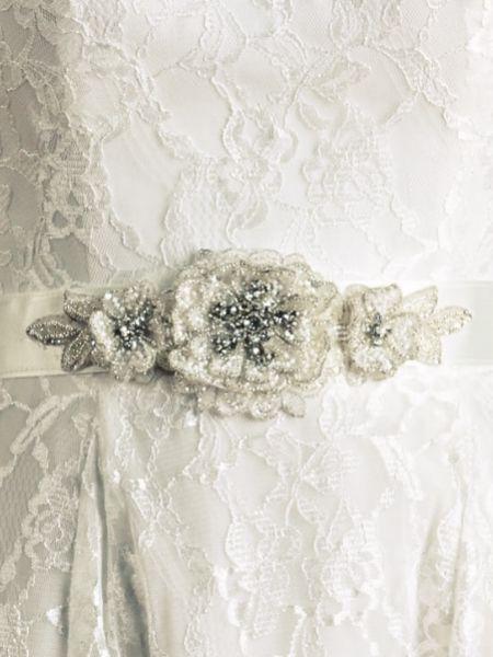 Joyce Jackson Dawlish Embellished Floral Wedding Dress Belt