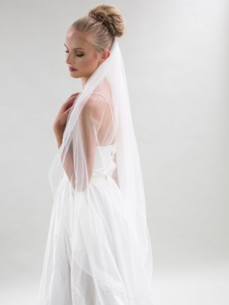 Joyce Jackson Maine Single Tier Tulle Veil with Pencil Edge