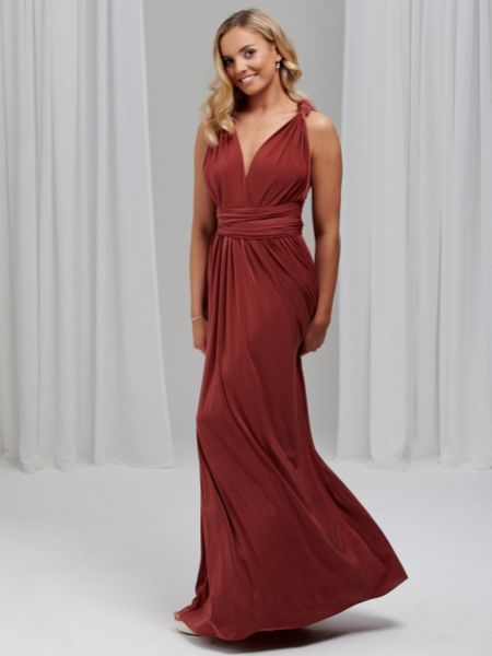 Lily Rose Terracotta Multiway Bridesmaid Dress