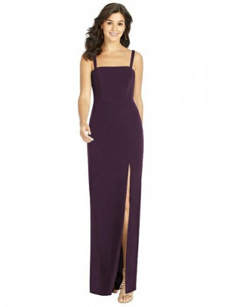 Thread by Dessy Flat Strap Stretch Crepe Dress with Front Slit TH002